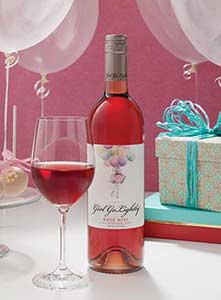 Tasty wine in a girly package