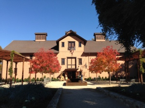 Trefethen in the fall.  You might be able to see skeletons stealing cases of wine from the window.