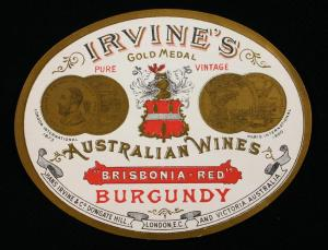 Irvine's Gold Medal Australian Burgundy.  Not from Burgundy.