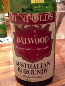 """Penfold's Australian """"Burgundy"""""""