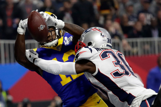 Patriots Rams Super Bowl Football